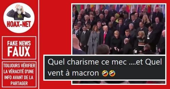 Non, Vladimir Poutine n'a pas évité une poignée de main avec Emmanuel Macron.