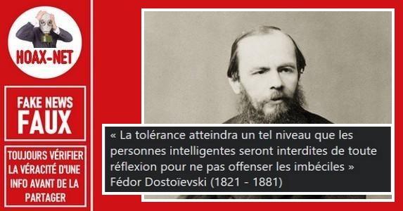 Non, cette citation n'est pas de Dostoïevski.