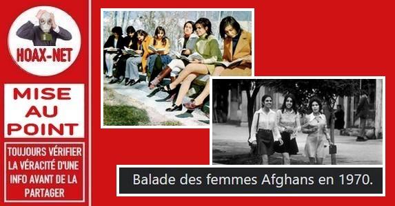 Non, ces photos ne prouvent pas que les femmes Afghanes avaient plus de libertés en 1970 que de nos jours.