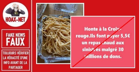 FAUX – Belgique, non les sinistrés des inondations ne doivent pas payer 5.50€ pour un repas chaud.