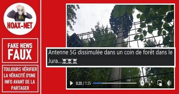 Non, il n'y a pas de pylône 5G dans le Jura.