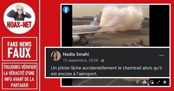 Non, le pilote de cet avion ne lâche pas des chemtrails.